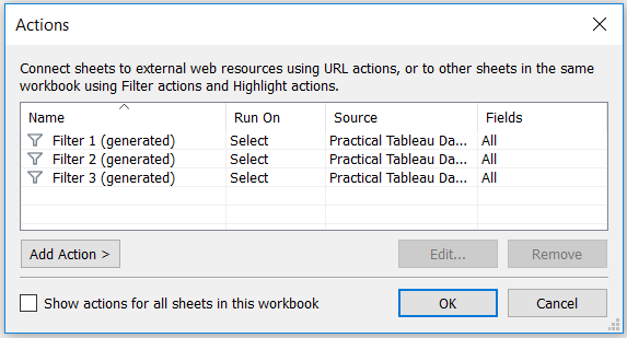 HOW TO USE TABLEAU DASHBOARD ACTIONS