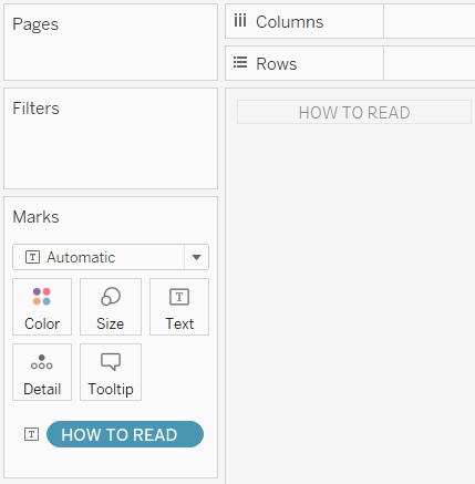 Tableau How to Read Controller Sheet
