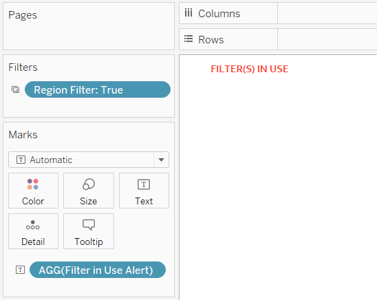 Filter in Use Alert Tableau Sheet