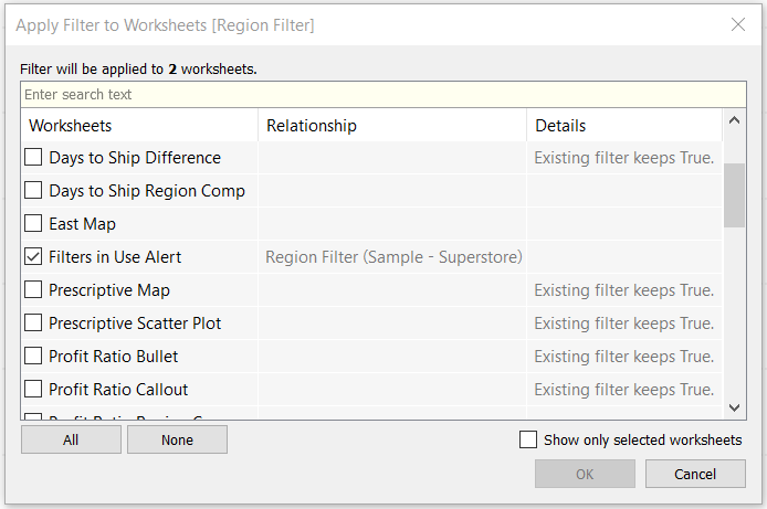 Tableau Apply Filter to Worksheets