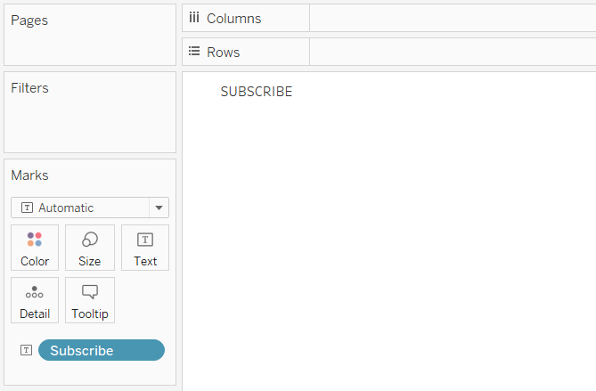 Subscribe Calculated Field on the Text Marks Card in Tableau