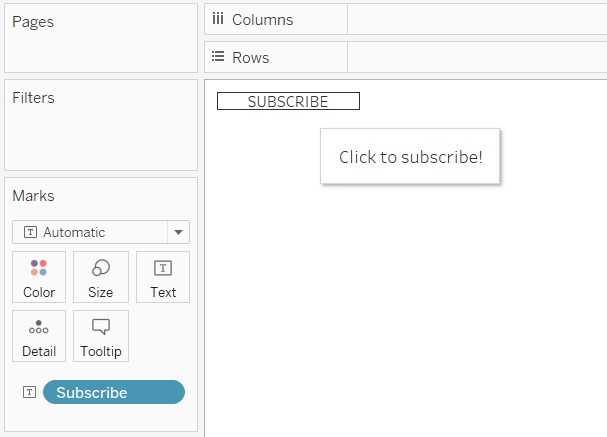 Tableau Button with Tooltip Call to Action