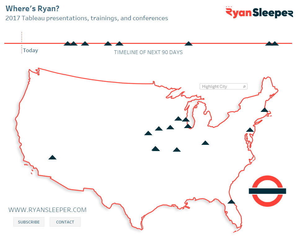 Where's Ryan Custom Tableau Map with Buttons