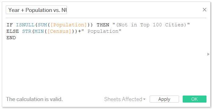 Tableau Dynamic Population Tooltip Calculated Field