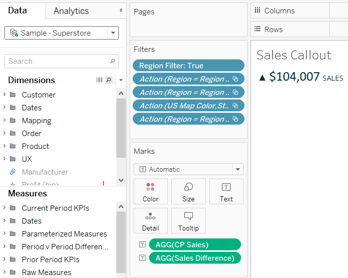 Tableau Sales Callout Under the Hood