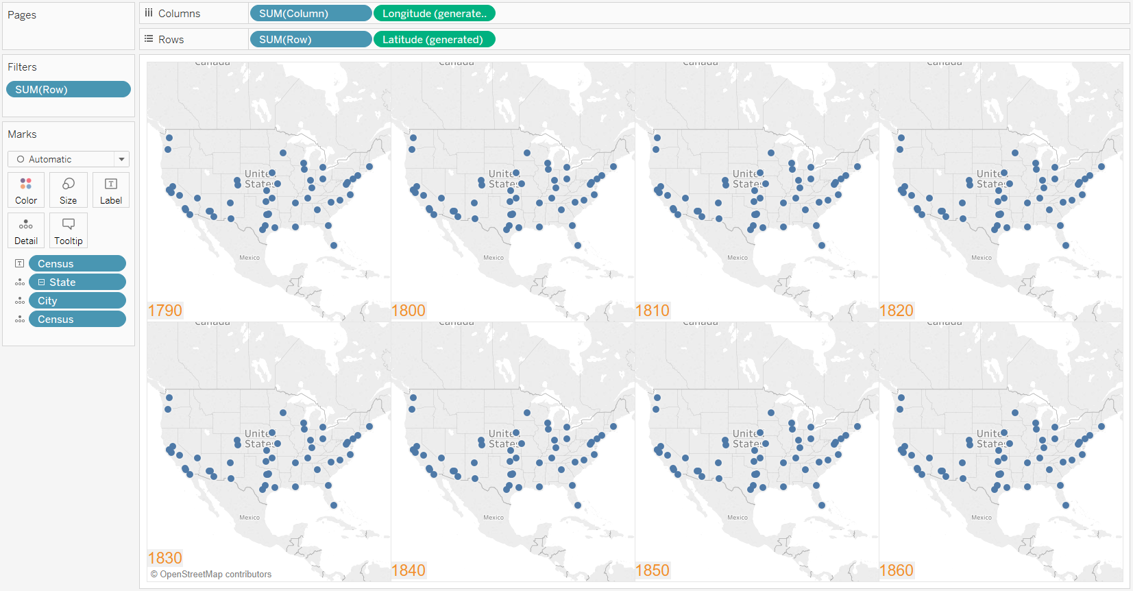 Tableau Small Multiple Maps With Cell Mark Labels