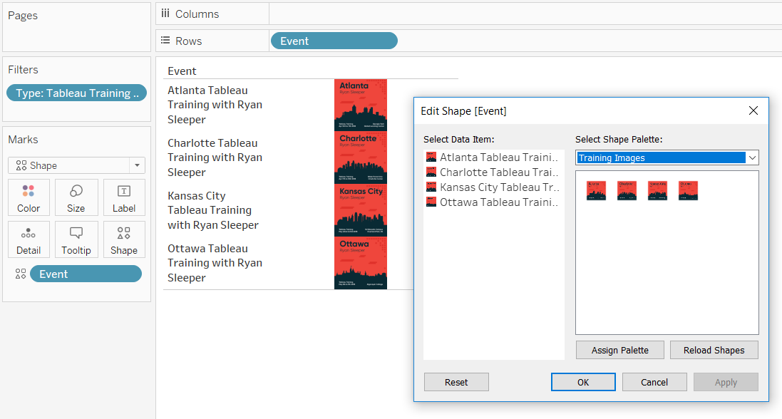 Tableau After Mapping a Custom Shapes Palette