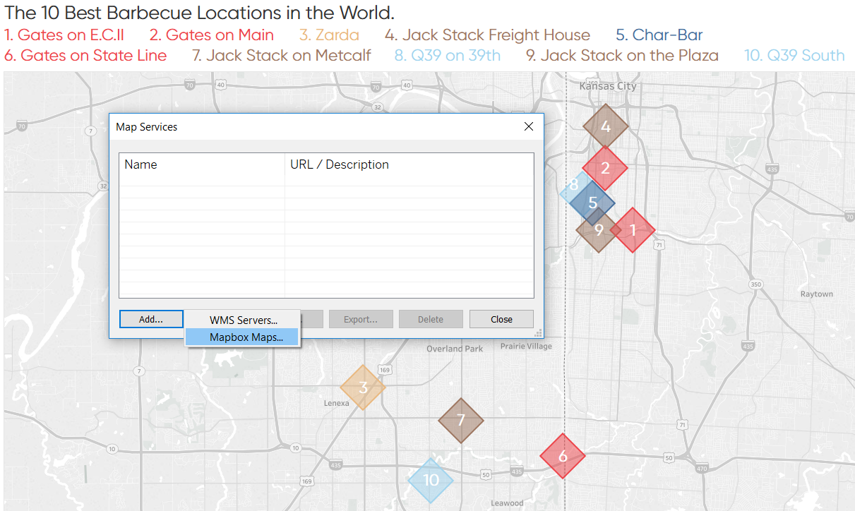 Adding Mapbox Maps to a Tableau Map