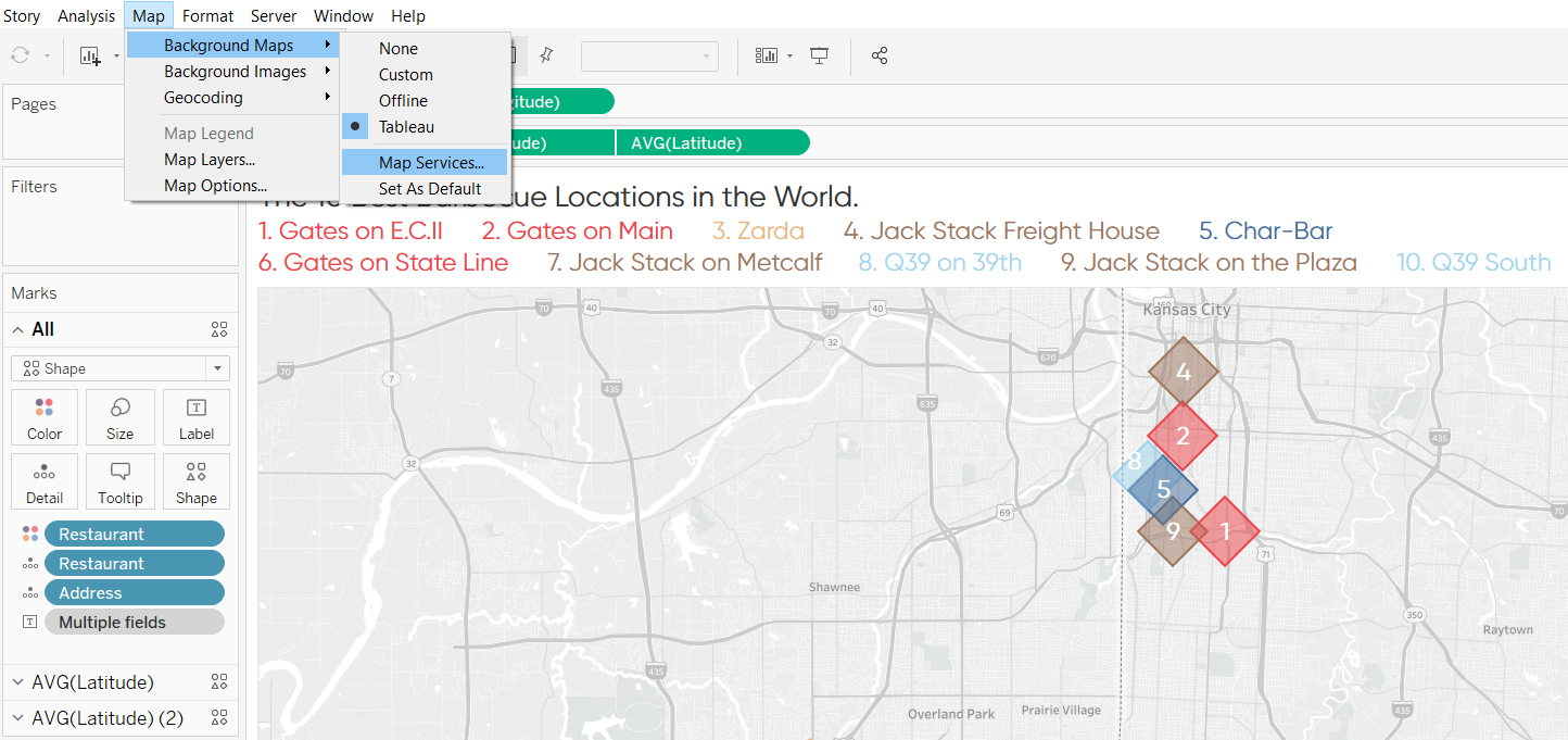 Map - Background Maps - Map Services in Tableau