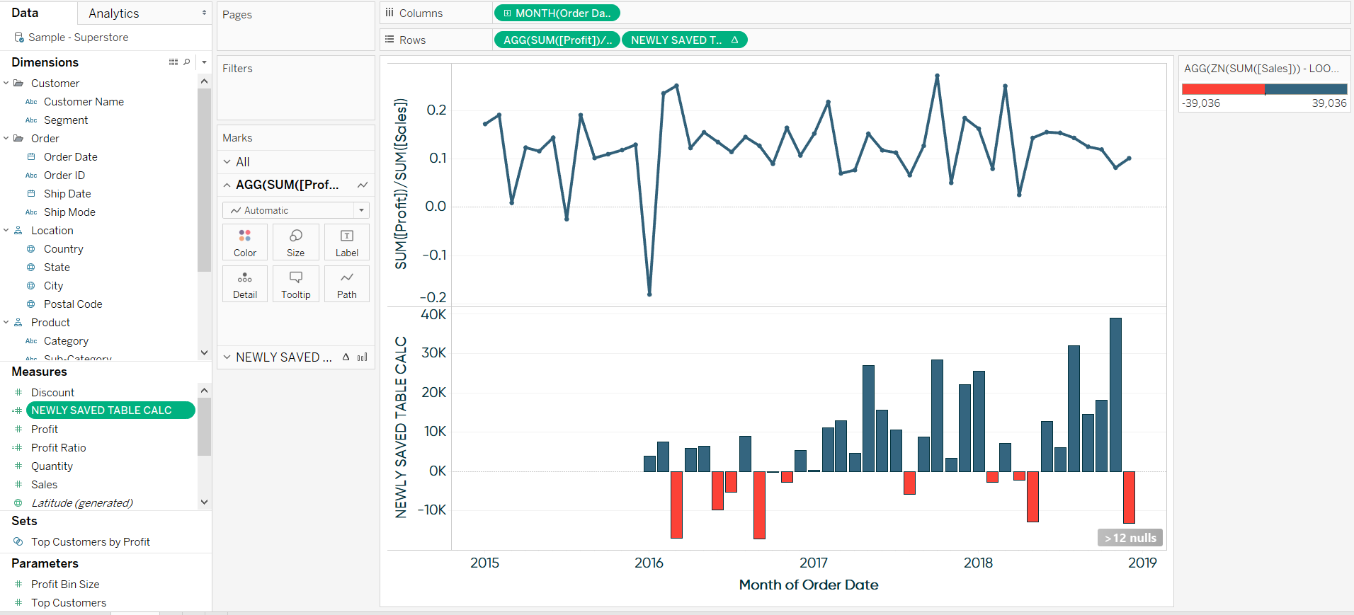 Saving a Table Calculation for Future Use in Tableau