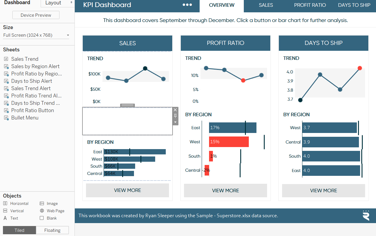 Enjoyable Adding A Blank Object To A Tableau Dashboard Ryan Sleeper Download Free Architecture Designs Scobabritishbridgeorg